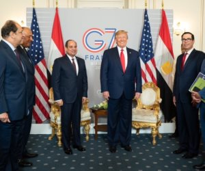 """السيسى يلتقى ترامب وجونسون وماكرون فى قمة السبع الكبار ويعلن انضمام مصر لميثاق """"ميتز"""""""