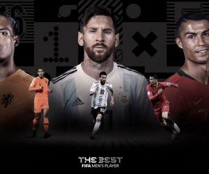 صلاح خارج القائمة.. ميسي ورونالدو وفان دايك يتنافسون على أفضل لاعب في 2019.