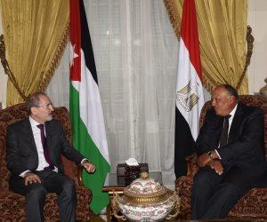 """شكرى يستبق الاجتماع الوزارى العربى بلقاء نظيره الأردني ووزير الدولة الإماراتي """"صور"""""""