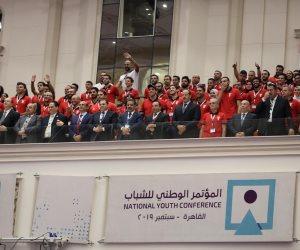 شاهد.. رد فعل حضور مؤتمر الشباب أثناء تحية أبطال دورة الألعاب الإفريقية
