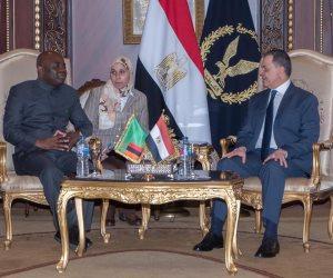 في لقائه مع اللواء توفيق .. وزير داخلية زامبيا يشيد بجهود مصر في التصدي للإرهاب بالمنطقة