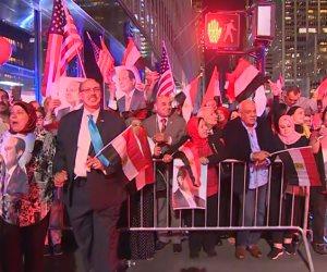 الجالية المصرية تستقبل الرئيس.. حافلات ومسيرات طوف نيويورك بالأعلام للترحيب بزيارة السيسي