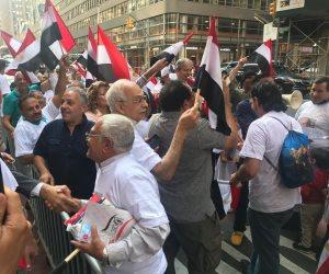 الجالية المصرية بأمريكا تحتشد لليوم الثالث على التوالي لدعم وتأييد الرئيس السيسي (فيديو وصور)