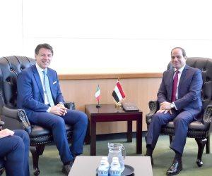 الرئيس السيسي من نيويورك: مهتمون بتطوير مختلف أطر التعاون المشترك بين مصر وإيطاليا