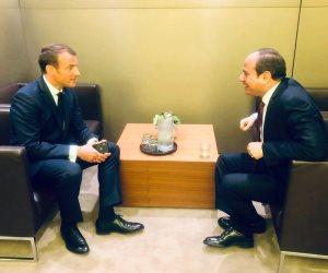 قمة فرنسية مصرية في نيويورك.. ماكرون لـ «السيسي»: علاقتنا الثنائية متينة وراسخة