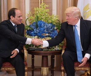 «ترامب» يؤكد على مكانة الرئيس السيسي وقدرته في الحفاظ على استقرار مصر