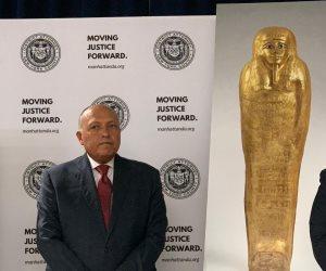 مصر تسترد التابوت الذهبي للكاهن نجم عنخ من متحف المتروبوليتان (صور)