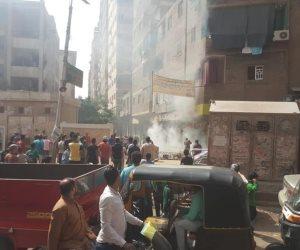 القمامة و «التوك توك» وحريق كابل الكهرباء.. طلاب «الشيخ الشعراوي» في مهب الريح (صور)