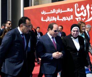 """افتتحه الرئيس السيسى.. معرض """"تراثنا"""" بوابة الترويج لمنتجات وفنون الحرف اليدوية والتراثية  """"صور"""""""