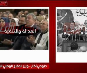 «القصاص» في تركيا على خطى مرسي وبديع.. وزير الدفاع يلقن أردوغان كلمات خطابه (فيديو)