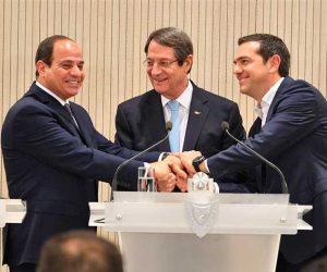 «الانتهاكات التركية» في شرق المتوسط يتصدر موضوعات النقاش بقمة «مصر وقبرص واليونان»