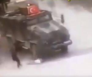 فيديو .. القوات التركية تدهس عجوزًا كردية بدم بارد