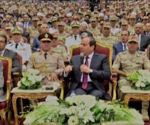 """الرئيس السيسى: """"لما البلد انكشف ضهرها فى 2011 اتبنى سد النهضة"""""""