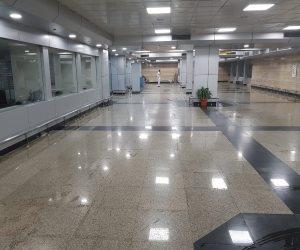 مصدر بالمطار: الصالة التي تراكمت بها مياه الأمطار تخضع للتطوير ولا تقلع منها رحلات منتظمة