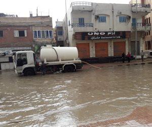 شمال سيناء طوارئ لمواجهة الأمطار.. واستمرار سحب المياه من الشوارع (صور)