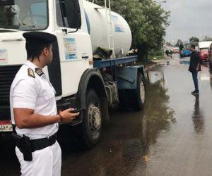 شاهد.. جهود جبارة للحماية المدنية بالإسكندرية لمواجهة الأمطار