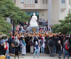 الموسيقات العسكرية تشارك فى احتفال جامعة مصر للعلوم والتكنولوجيا بانتصار أكتوبر