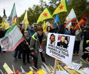 الأكراد يتظاهرون في باريس ضد «الجرائم التركية»