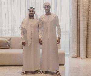 شاهد.. أحمد الشيخ وقفشة بالزى الإماراتى