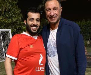 """تركى آل الشيخ يزور الخطيب فى منزله: الحمدالله هو بخير """"صور"""""""