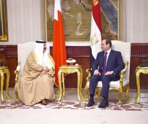 السيسى: علاقة مصر والبحرين تمثل نموذجا للتعاون الاستراتيجى بين الأشقاء العرب