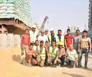السيسى يتفقد الأعمال الإنشائية بمجموعة مشروعات الطرق والكباري بمصر الجديدة