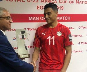 مصطفى محمد رجل مباراة مصر ومالي في افتتاح أمم أفريقيا للشباب