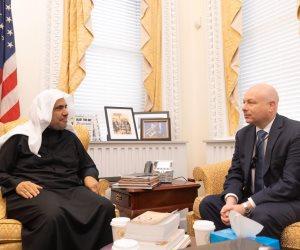 أمين رابطة العالم الإسلامى يتحاور مع أعرق مراكز الأبحاث الأمريكية ومستشار البيت الأبيض