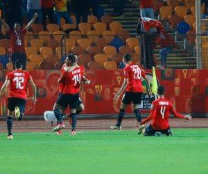 انتهاء الشوط الأول من مباراة مصر والكاميرون تحت 23 عام بالتعادل الإيجابي