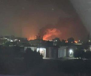 الدفع بـ 40 سيارة إطفاء للسيطرة على انفجار خط الغاز بالبحيرة.. وإصابة 12 مواطنا