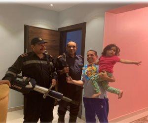 سرعة استجابة النجدة تنقذ طفلة محتجزة بمسكنها بالقاهرة الجديدة
