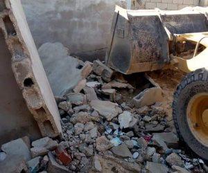 إزالة حالات تعدٍ على أراضي وأملاك الدولة في مدينة العريش (صور)
