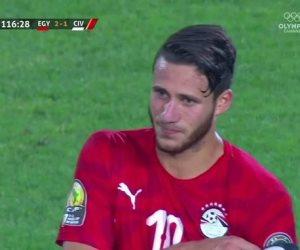 رمضان  صبحي أفضل لاعب بأمم افريقيا