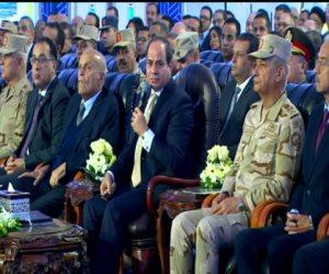 الرئيس السيسى يفتتح محور 30 يونيو بطول 210 كم