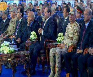 السيسى: إنشاء 19 ألف فدان مزارع سمكية شرق بورسعيد