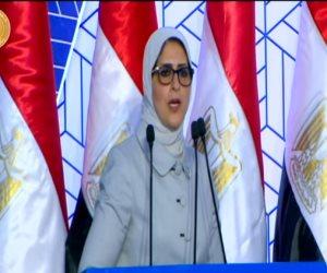 وزيرة الصحة تستعرض أمام الرئيس استراتيجية الدولة فى القطاع الصحى والتأمين الجديد