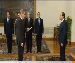 فيديو.. المحافظون الجدد يؤدون اليمين الدستورية أمام الرئيس السيسى