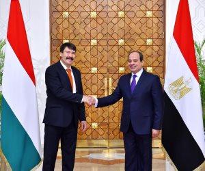 الرئاسة: السيسى ونظيره المجرى بحثا التعاون في مجال تطوير قطاع السكك الحديدية (صور)