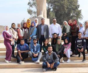 """طلاب الآثار بجامعة مصر للعلوم والتكنولوجيا فى زيارة علمية لمنطقة """"تل بسطة"""""""