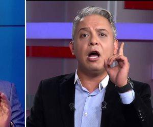 """ناصر يضرب كفا بكف ومعتز يصرخ.. ندوة مفيد فوزي وتصريحاته عن """"حرية الإعلام"""" تجنن قنوات الإخوان"""