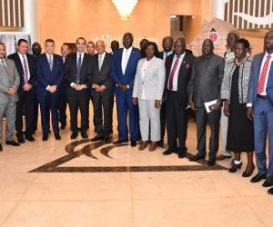 عبد العال يناقش مكافحة الإرهاب مع رئيس المجلس التشريعي بجنوب السودان
