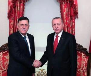 «إن لم تستح فافعل ما شئت».. «أردوغان» يمتطي «السراج» لنهب المتوسط