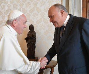 وزير الخارجية ينقل رسالة السيسي لبابا الفاتيكان: نعتز بجهودكم لنشر التسامح