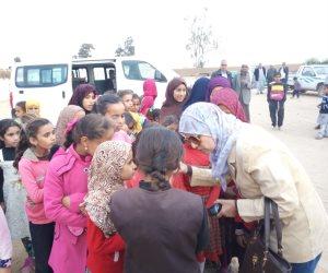 قافلة طبية وغذائية لأهالي رفح المنقولين بسبب الحرب على الإرهاب برعاية محافظ شمال سيناء (صور)