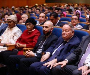 جامعة مصر للعلوم والتكنولوجيا تستضيف قرينة رئيس  دولة جامبيا وسفراء بأفريقيا (صور)