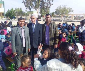 إدارة بئر العبد التعليمية تحيي ذكرى شهداء مسجد الروضة بشمال سيناء (صور)