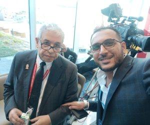 منتدى شباب العالم.. عبد المنعم سعيد يكشف وصية الرئيس بعد تفقد معرض المركز المصري للدراسات الاستراتيجية