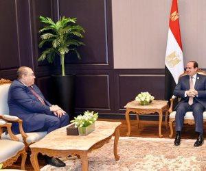 السيسى يلتقي محمود محيي الدين ويؤكد علاقات التعاون الإيجابية بين مصر والبنك الدولي