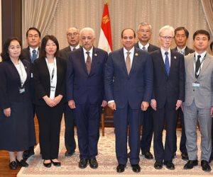 السيسى يلتقى الخبراء اليابانيين المشرفين على منظومة المدارس اليابانية بمصر