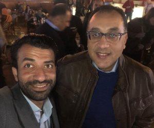 الدكتور مصطفى مدبولى وحرمه برفقة وزيرًا الاثار والثقافة بجولة فى سوهو سكوير